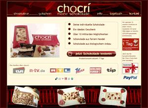 chocri individuelles geschenk schokolade