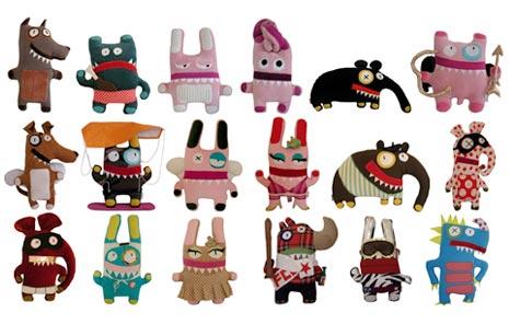Übersicht Grüsli Recycling Design Spielzeuge