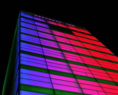 Farben-LEDs an der Takarazuka University