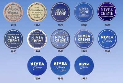 Nivea Geschichte vom Design Logo & Verpackung