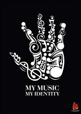 Plakatdesign für Musik