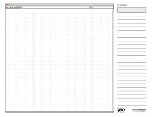 Scribble Vorlage Raster Webdesign