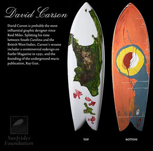 Surfbrett Design David Carson