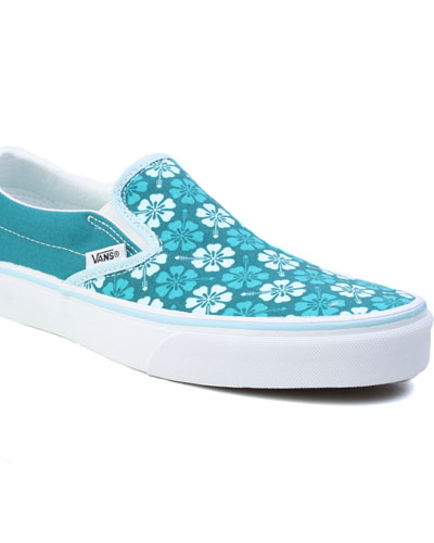 Vans Classic Slip On Shaded spruce blue hibiscus