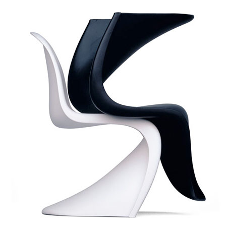 Panton chair von vitra designer verner panton design for Design stuhl panton